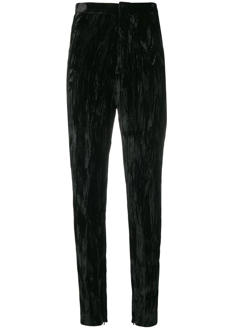 Saint Laurent wrinkled effect trousers