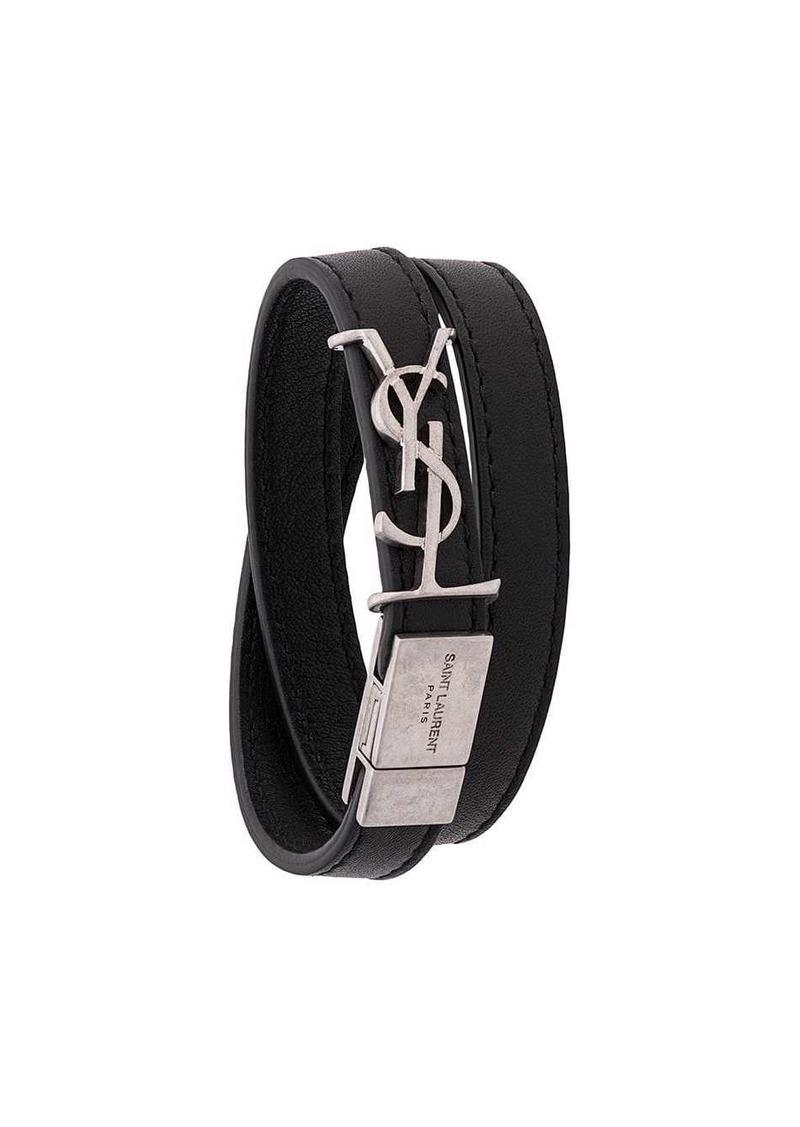 Saint Laurent YSL double wrap bracelet