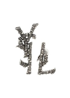 Saint Laurent YSL logo clip earrings