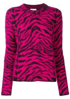 Saint Laurent zebra intarsia jumper