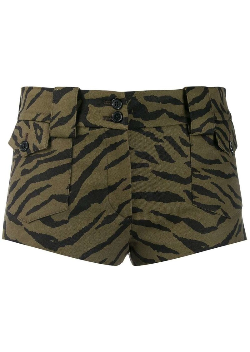Saint Laurent zebra pattern short shorts