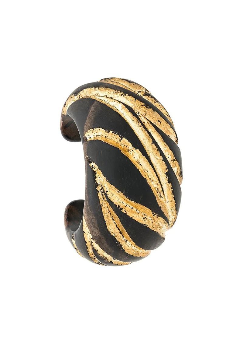 Saint Laurent Zebra-patterned cuff bracelet