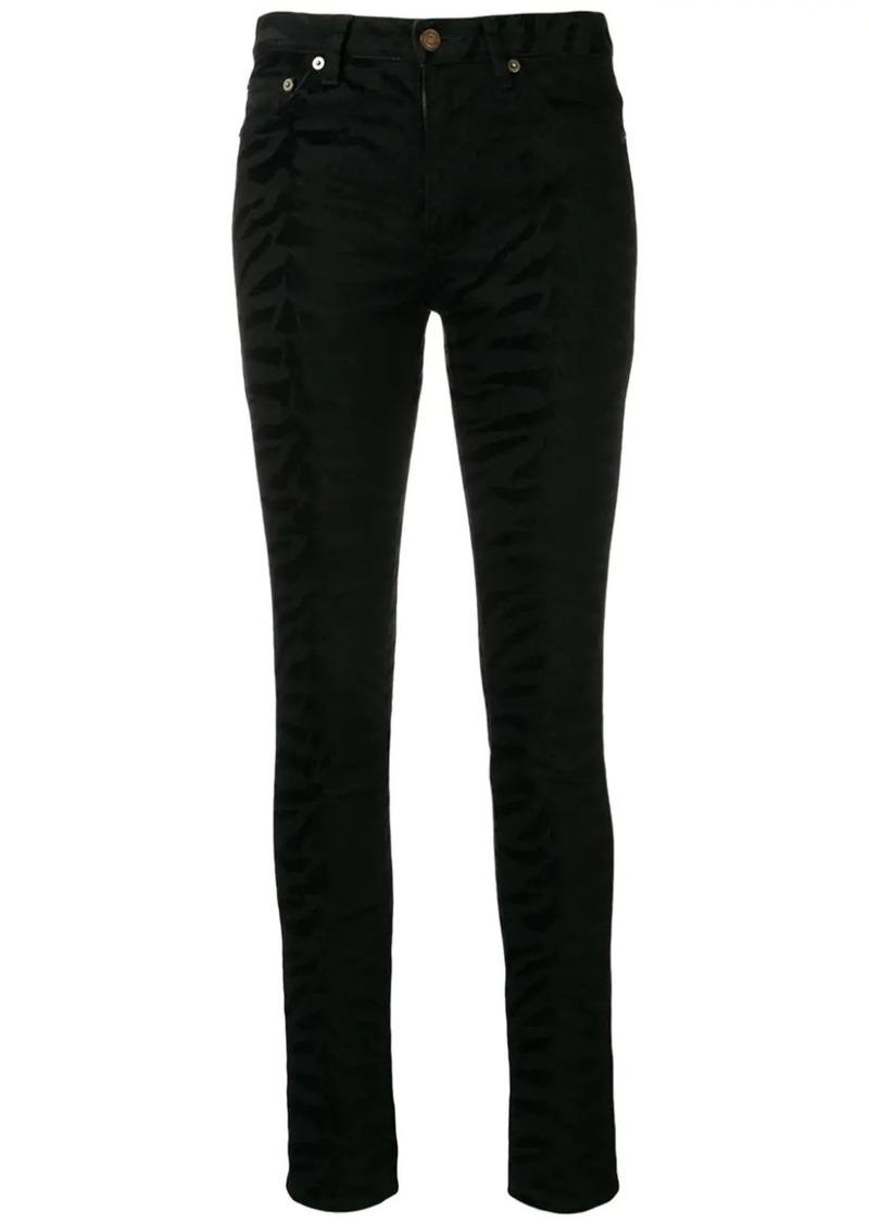 Saint Laurent zebra print jeans