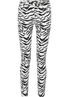 Saint Laurent Zebra-print Mid-rise Skinny Jeans
