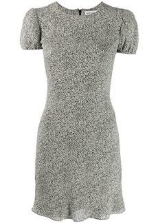 Saint Laurent zebra print mini dress