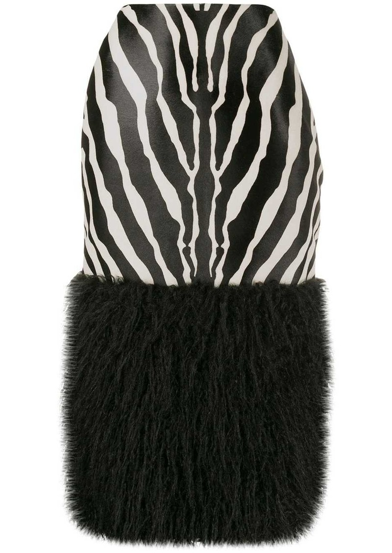 Saint Laurent Zebra print skirt