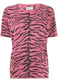 Saint Laurent zebra print T-shirt
