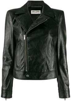Saint Laurent zipped biker jacket