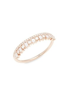 Saks Fifth Avenue 14K Rose Gold & Diamond Ring
