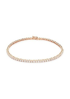 Saks Fifth Avenue 14K Rose Gold & Diamond Tennis Bracelet