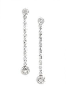 Saks Fifth Avenue 14K White Gold & Diamond Drop Earrings