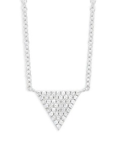 Saks Fifth Avenue 14K White Gold & Diamond Triangle Necklace