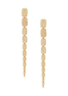 Saks Fifth Avenue 14K Yellow Gold & 1.35 TCW Diamond Serpentine Linear Earrings