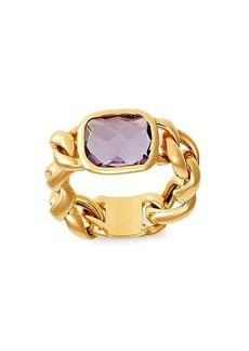 Saks Fifth Avenue 14K Yellow Gold & Amethyst Cushion Ring