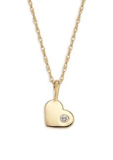 Saks Fifth Avenue 14K Yellow Gold & Diamond Heart Necklace