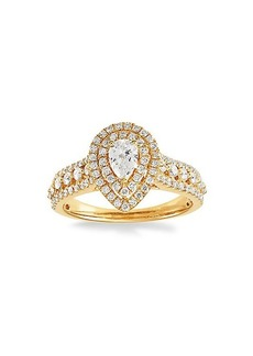 Saks Fifth Avenue 14K Yellow Gold & Diamond Ring