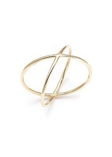 Saks Fifth Avenue 14K Yellow Gold Crisscross Ring
