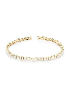 Saks Fifth Avenue 14K Yellow Gold Diamond Baguette Bangle