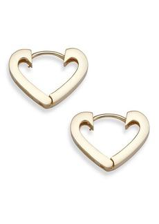Saks Fifth Avenue 14K Yellow Gold Hinge Heart Hoop Earrings