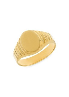 Saks Fifth Avenue 14K Yellow Gold Oval Engravable Signet Ring