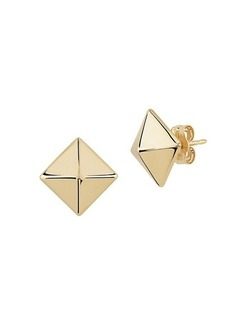 Saks Fifth Avenue 14K Yellow Gold Pyramid Stud Earrings