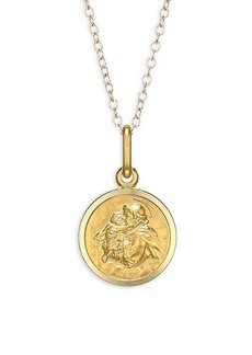 Saks Fifth Avenue 14K Yellow Gold St. Anthony Medallion Pendant Necklace