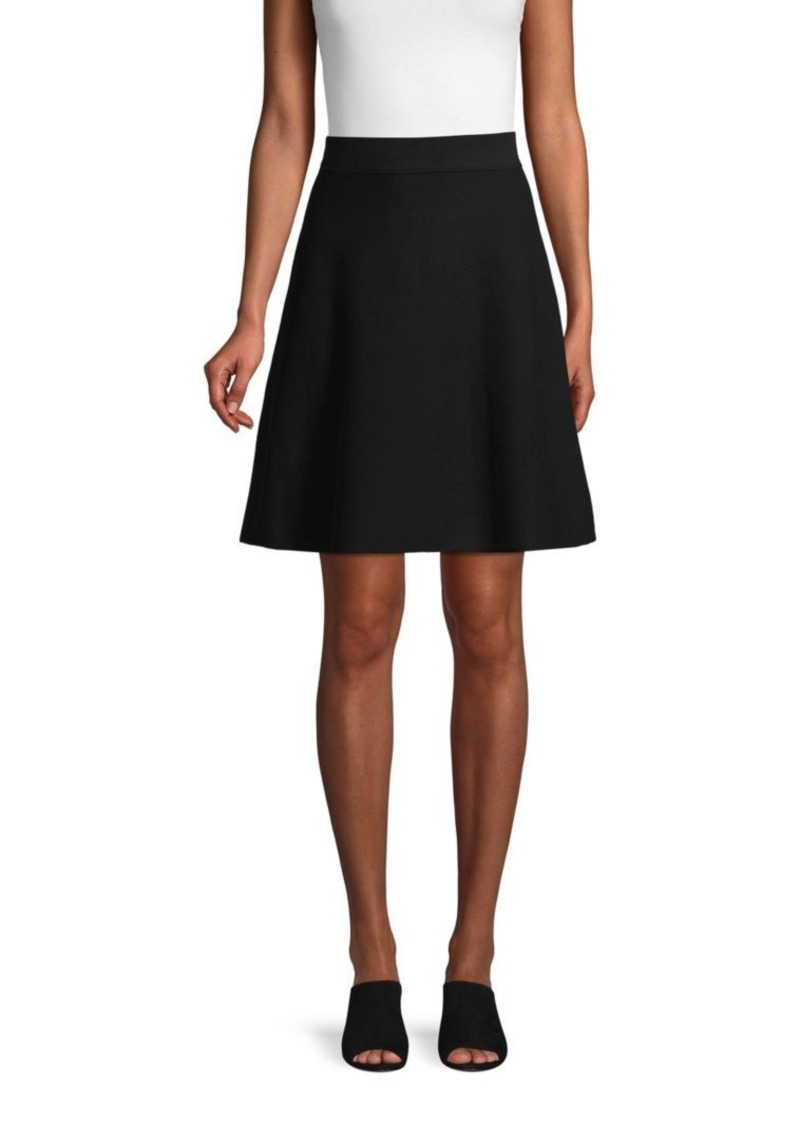 Saks Fifth Avenue A-Line Cotton Blend Skirt
