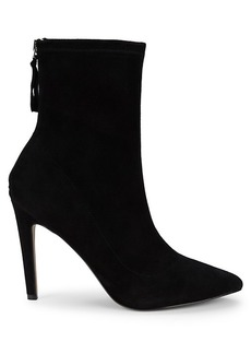 Saks Fifth Avenue Amelia Stretch Suede Booties