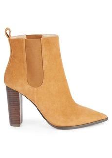 Saks Fifth Avenue Amy Suede Stack-Heel Booties