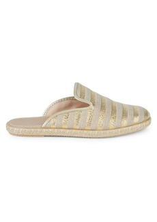Saks Fifth Avenue Angie Metallic Stripe Flat Mules