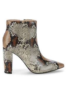 Saks Fifth Avenue Annie Stacked Heel Leather Booties
