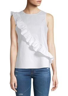 Saks Fifth Avenue Asymmetric Ruffle Tank Top