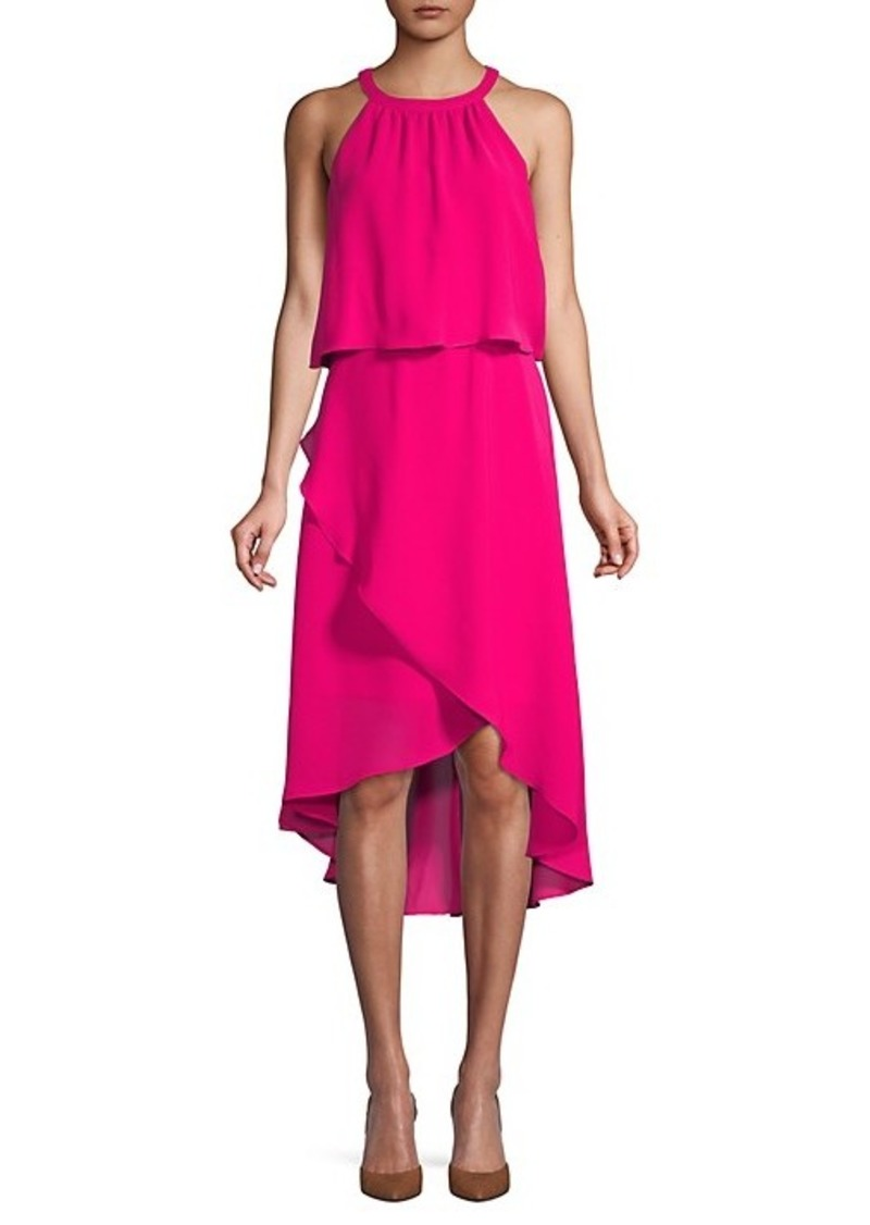 Saks Fifth Avenue Asymmetrical Popover Midi Dress