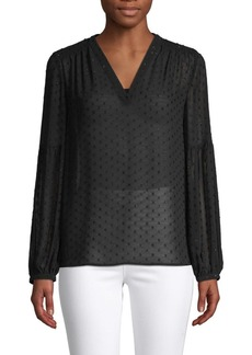 Saks Fifth Avenue Balloon-Sleeve Blouse
