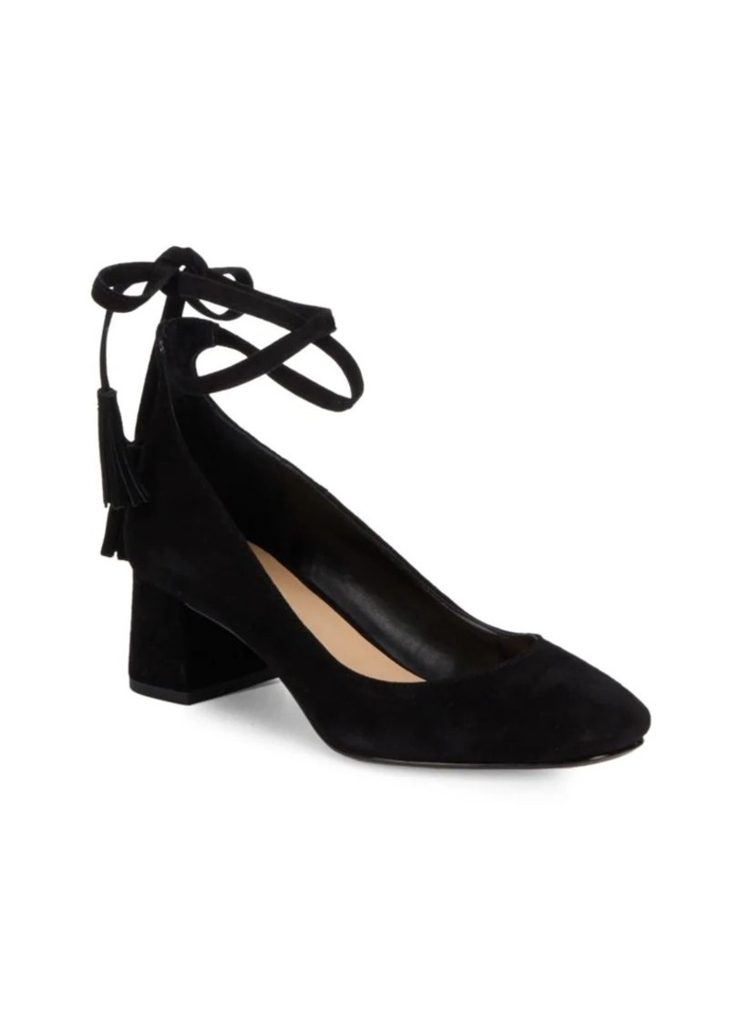 Saks Fifth Avenue Bambi Leather Ankle Wrap Pumps