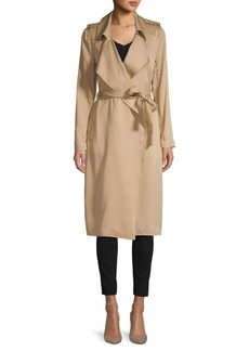 Saks Fifth Avenue Belted Wrap Coat