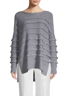 Saks Fifth Avenue Boatneck Fringed Sweater