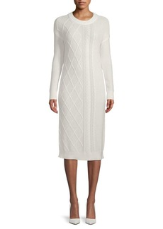 Saks Fifth Avenue Cable Knit Sweater Dress