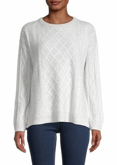 Saks Fifth Avenue Cabled Cashmere Sweater