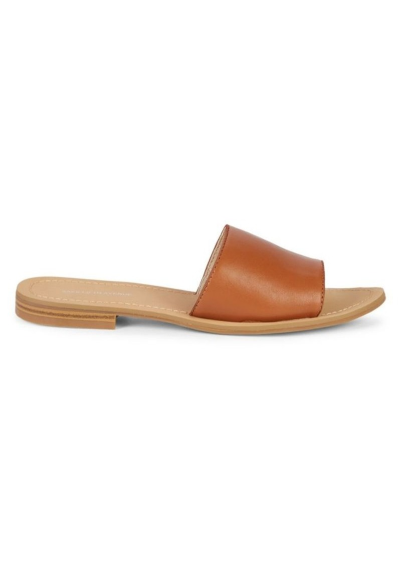 Saks Fifth Avenue Caleigh Leather Slides