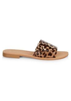 Saks Fifth Avenue Caleigh Leopard Slide Sandals