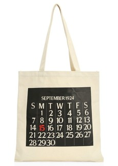 Saks Fifth Avenue Calendar Canvas Tote Bag
