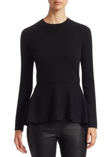 Saks Fifth Avenue COLLECTION Cashmere Peplum Sweater