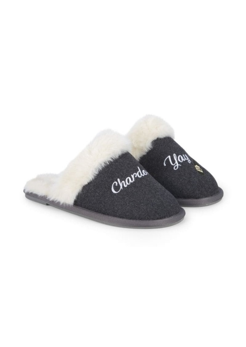 Saks Fifth Avenue Chardonn-Yay Faux Fur Slippers