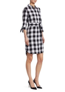 Saks Fifth Avenue Checked Shirt Dress