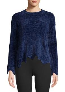 Saks Fifth Avenue Chenille Crop Sweater