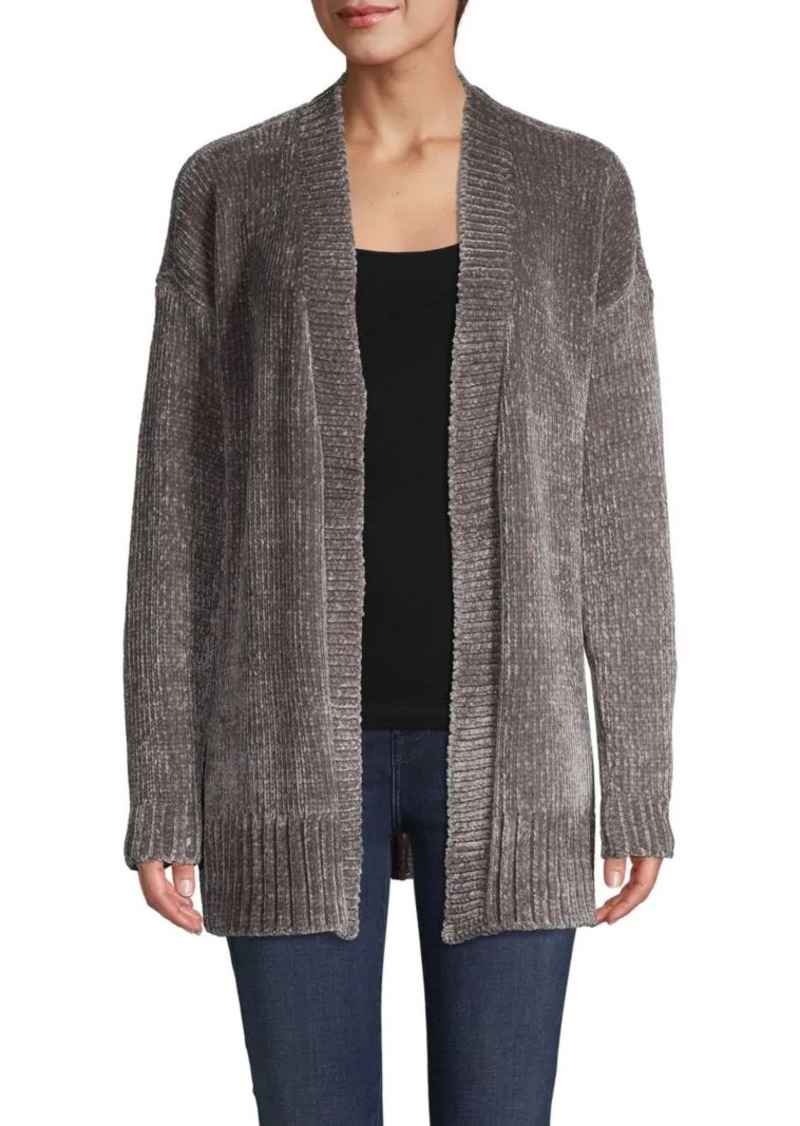 Saks Fifth Avenue Chenille Open-Front Long-Sleeve Cardigan