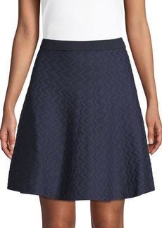 Saks Fifth Avenue Chevron Flared Skirt