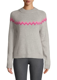 Saks Fifth Avenue Chevron Wool Blend Sweater