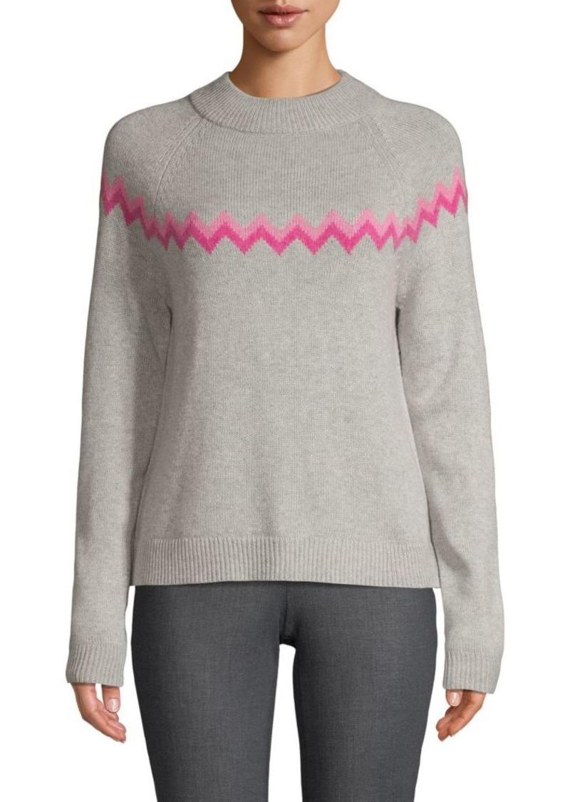 Saks Fifth Avenue Chevron Wool Blend Sweater